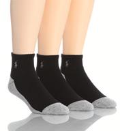 Polo Ralph Lauren Split Color Cushioned Quarter Top Socks - 3 Pack 824003